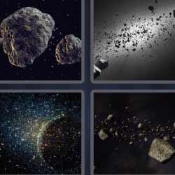 4 fotos 1 palabra rocas espacio