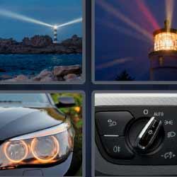 4 fotos 1 palabra faro carro