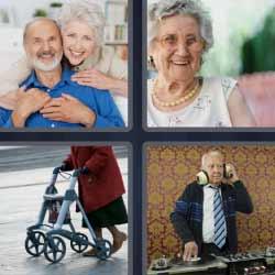4 fotos 1 palabra ancianos