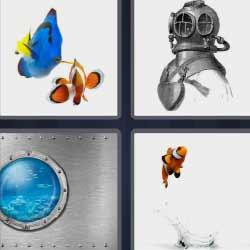4 fotos 1 palabra pez nemo