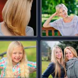 4 fotos 1 palabra mujeres rubias