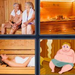 4 fotos 1 palabra sauna