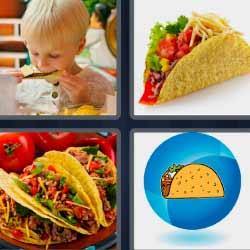 4 fotos 1 palabra tacos