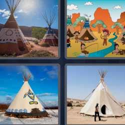 4 fotos 1 palabra casa indios