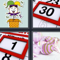 4 fotos 1 palabra calendario día 30