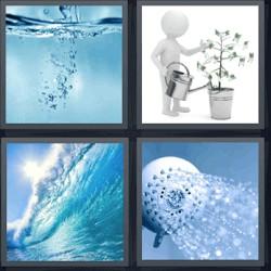 4 fotos 1 palabra ola del mar regadera ducha