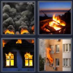 4 fotos 1 palabra incendio