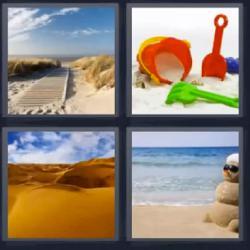 4 fotos 1 palabra desierto playa