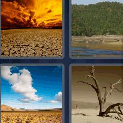 4 fotos 1 palabra desierto suelo seco