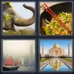 4 fotos 1 palabra elefante