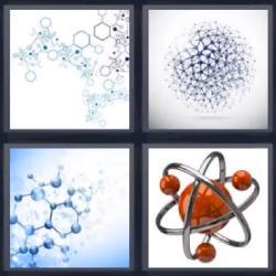 4 fotos 1 palabra partículas átomos ciencia