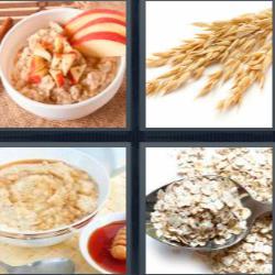 4 fotos 1 palabra cereales manzana