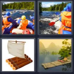 4 fotos 1 palabra barca kayak