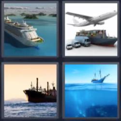 4 fotos 1 palabra crucero avión