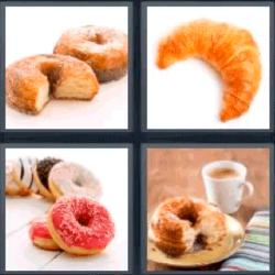 4 fotos 1 palabra donuts croisant