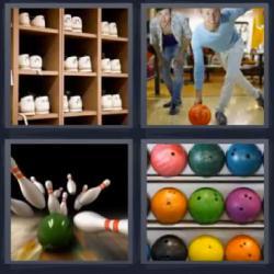 4 fotos 1 palabra bolos bowling