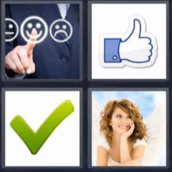 4 fotos 1 palabra tick verde