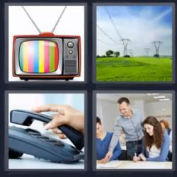 4 fotos 1 palabra televisor teléfono