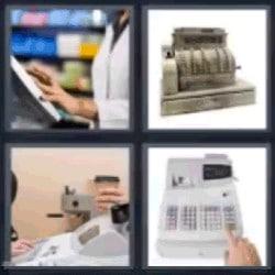 4 fotos 1 palabra maquina registradora