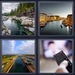 4 fotos 1 palabra río mando a distancia