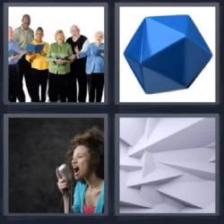 4 fotos 1 palabra coro contante