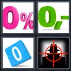 4 fotos 1 palabra 0%, 0,-, espía