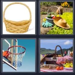 4 fotos 1 palabra cesta picnic
