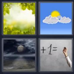 4 fotos 1 palabra mas 1 igual