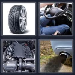 4 fotos 1 palabra rueda motor