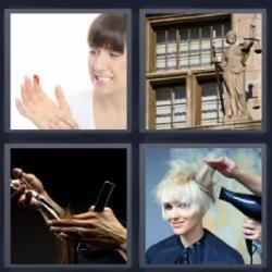 4 fotos 1 palabra mujer herida dedo