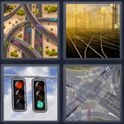 4 fotos 1 palabra semáforos carreteras