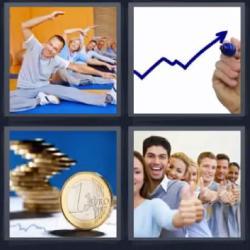 4 fotos 1 palabra monedas