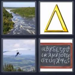 4 fotos 1 palabra triangulo