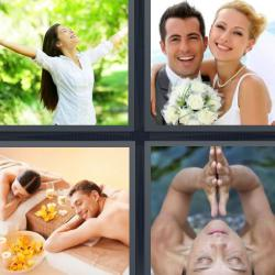 4 fotos 1 palabra spa novios