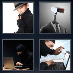 4 fotos 1 palabra niño robot hacker