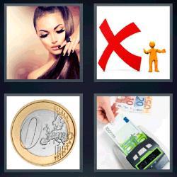 4 fotos 1 palabra x roja