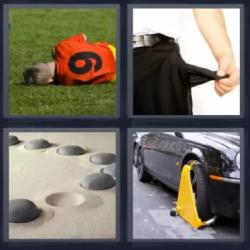 4 fotos 1 palabra futbolista bolsillo piedras