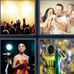 4 fotos 1 palabra concierto fútbol