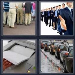 4 fotos 1 palabra 4 letras impresora