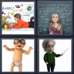4 fotos 1 palabra Einstein bebé