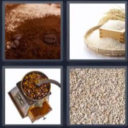 4 fotos 1 palabra harina café
