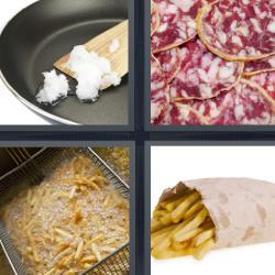 4 fotos 1 palabra papas fritas fuet