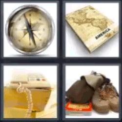 4 fotos 1 palabra brújula