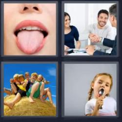 4 fotos 1 palabra lengua reunión