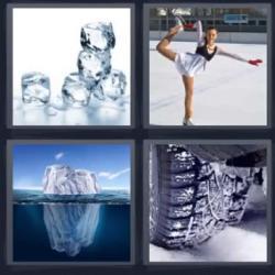 4 fotos 1 palabra cubitos de hielo patinadora