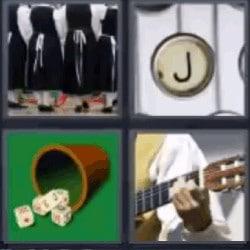 4 fotos 1 palabra dados guitarra