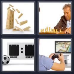 4 fotos 1 palabra ajedrez consola