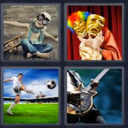 4 fotos 1 palabra niño aviador fútbol
