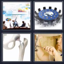 4 fotos 1 palabra mesa redonda huesos