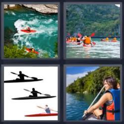 4 fotos 1 palabra canoas kayak